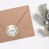 Holiday Wreath Return Address Labels