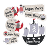 Pirate's Life Kiddie Label Pack (54 labels)