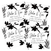 Monochrome Flowers Return Address Labels