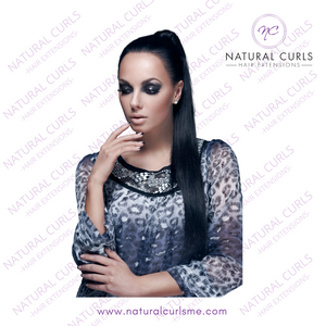 "#1B OFF BLACK - PONYTAIL (20"") - Natural Curls"