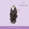 "#1 NATURAL BLACK - HALO (20"") - Natural Curls"