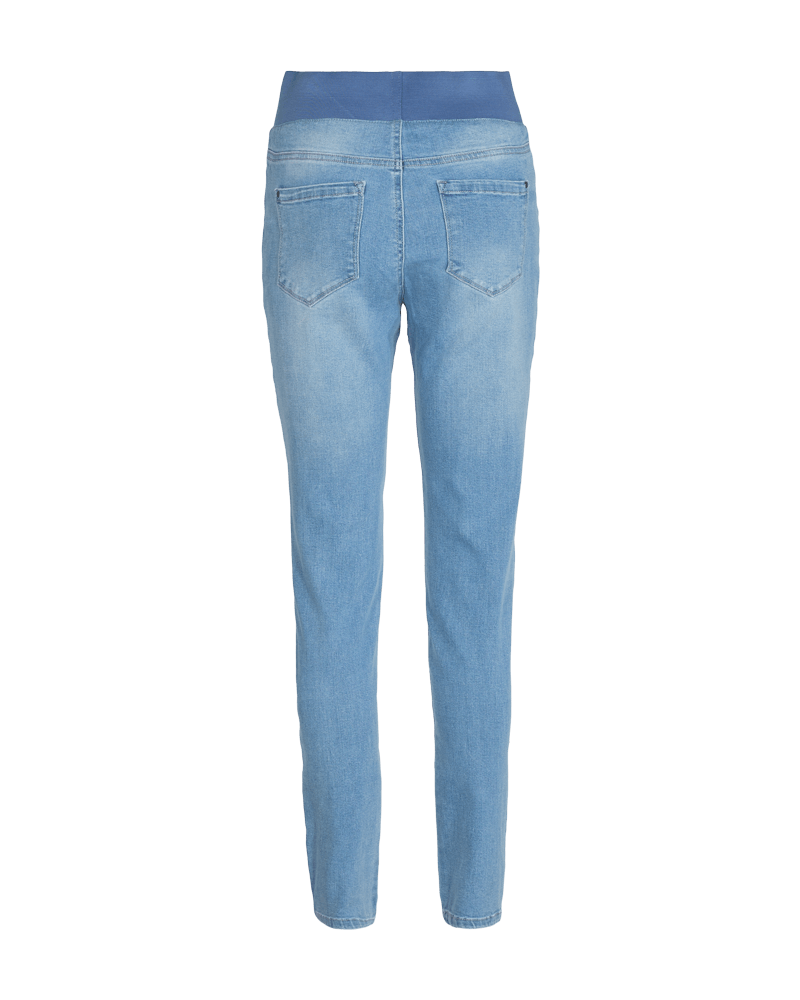 HØJTALJET DENIMJEANS I STRETCH