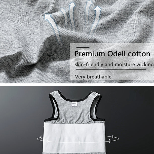 Breathable Odell Cotton Chest Binder-Gray