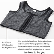 3 Rows Central Clasp Chest Binder Tank Top-Dark Gray