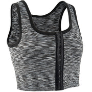 3 Rows Central Clasp Chest Binder Tank Top-Light Grey