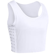 Breathable Odell Cotton Chest Binder-White