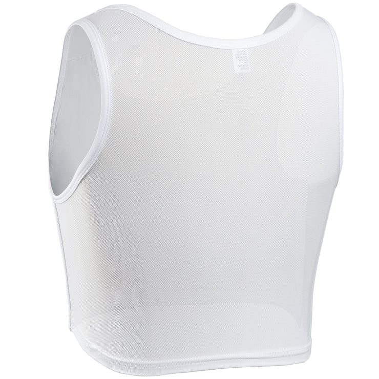 Women Tomboy FTM Transgender Elastic Breathable Half Chest Binder-White