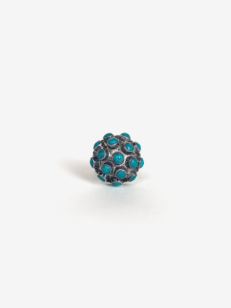 Mexican Spherical Turquoise Ring