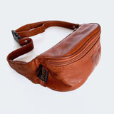 "90's Brown Leather ""M"" Fanny Pack"