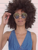 70's Clear Round Sunglasses