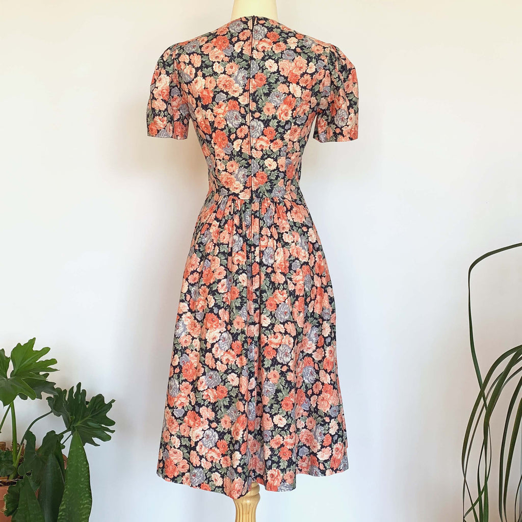 Laura Ashley Pink Floral Short Sleeve Dress