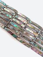 Wide Abalone Inlay Bracelet