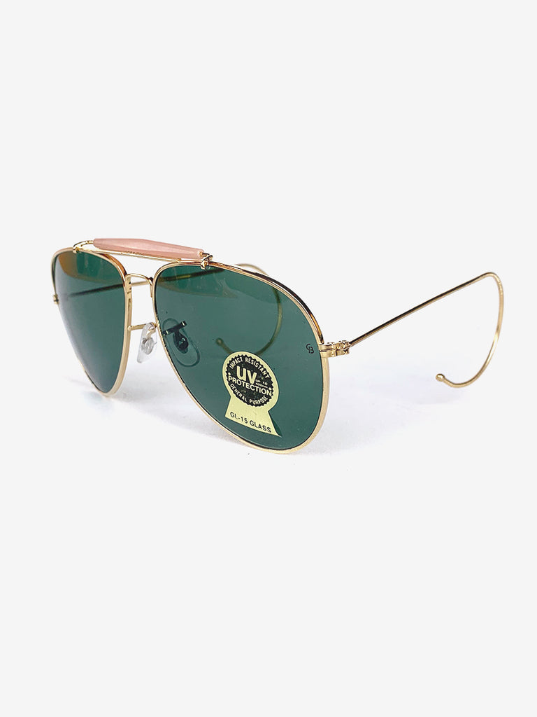 80's Gold Aviator Sunglasses