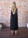 Small Black Linen Dress