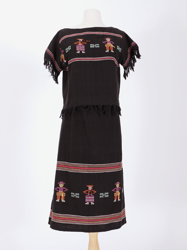 Black Guatemalan Skirt & Top Set