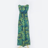 90's Blue & Green Batik Dress Set