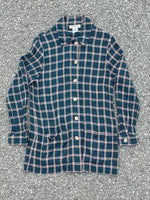 Blue Rayon Plaid Jacket / Overshirt