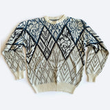 80's Grey Diamond Graphic Sweater