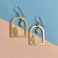 Dainty Windows Dangle Earrings