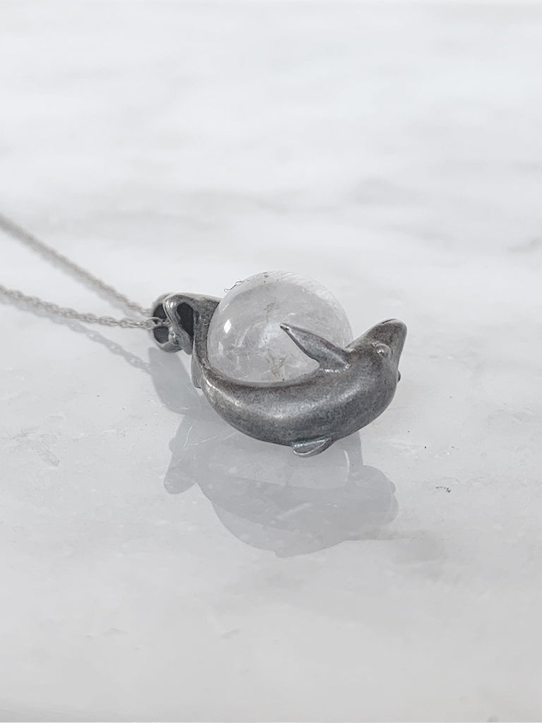 Silver Dolphin Charm Necklace