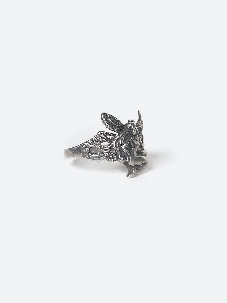 70's Fairy Lady Silver Ring