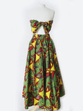 Green African Wax Print Skirt & Top Set