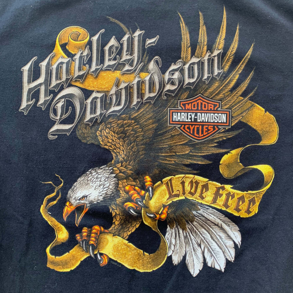 Black Harley Davidson Eagle T Shirt