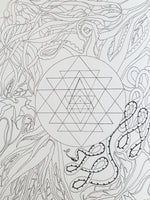 Pyramids & Rainbows Coloring Book