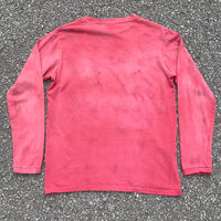 Red Dyed Long Sleeve T-Shirt