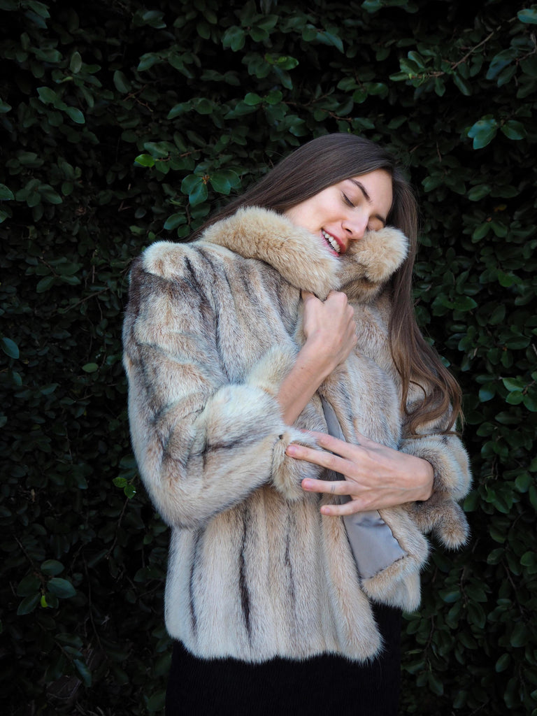 50's Light Brown Fur Coat