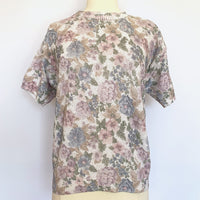 90's Pastel Floral Short Sleeve Sweater