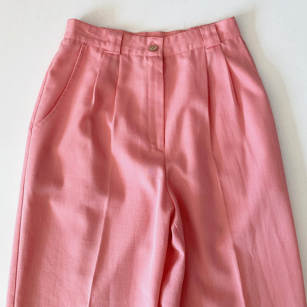 Pink High Waisted Trousers