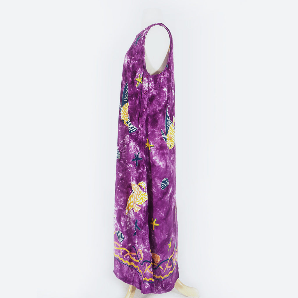 Purple Fish Tie Dye Dress