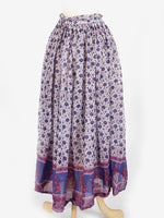 Purple Floral Indian Skirt