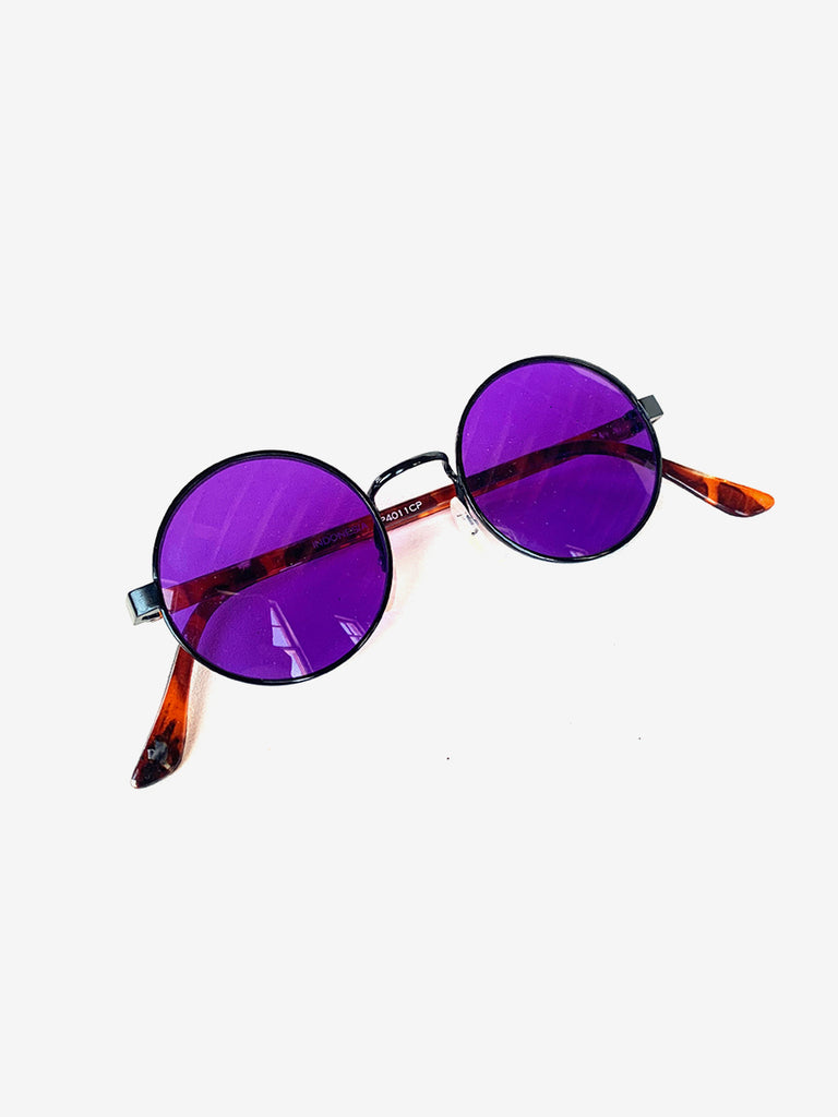 90's Purple Round Sunglasses