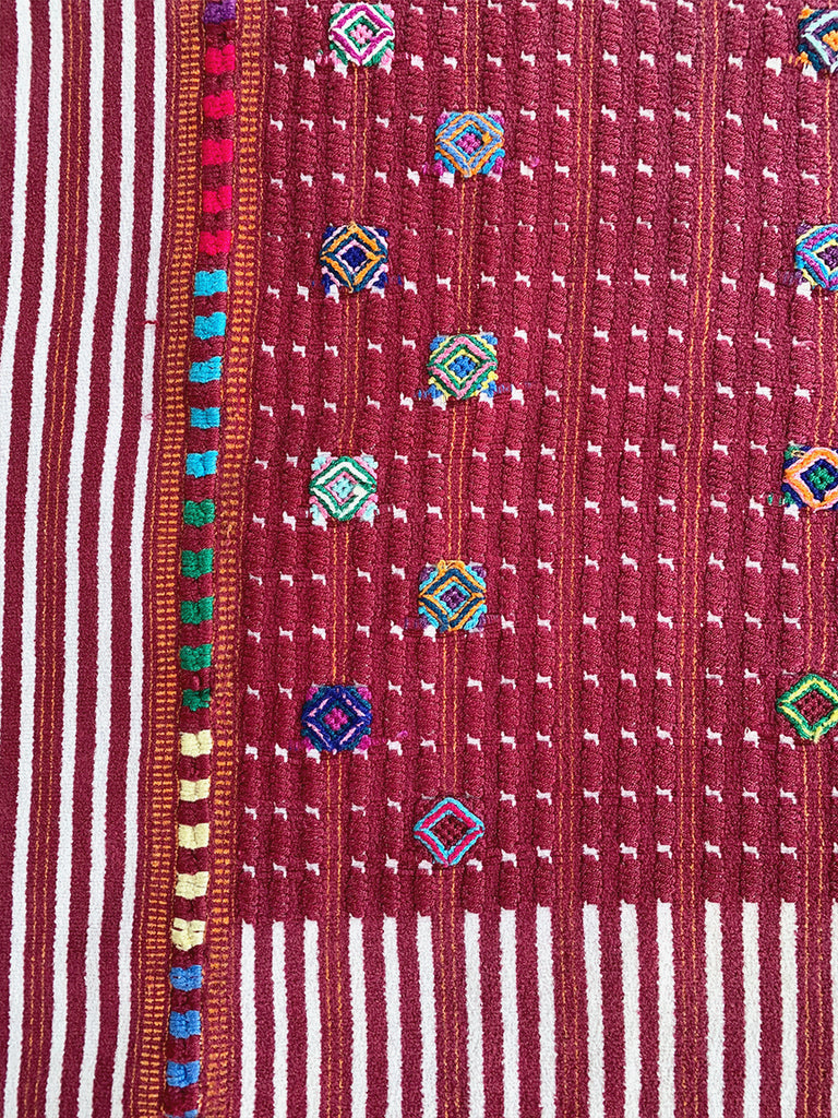 Red & White Woven Huipil