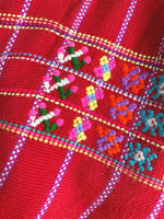Smocked Red Huipil