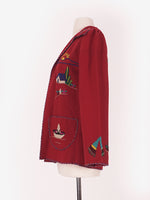 50's Dark Red Wool Mexican Tourist Jacket