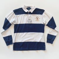 RL Polo Blue & White Rugby Long Sleeve
