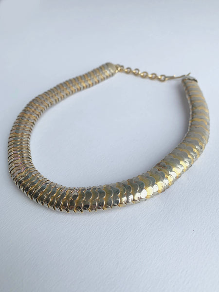 Mixed Metal Nesting Link Chain Necklace