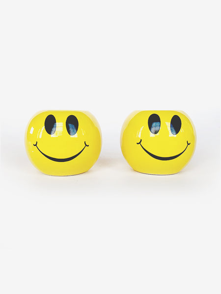 Smiley Face Candle Holder Set