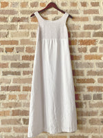 White Linen Dress w/ Crochet Detail