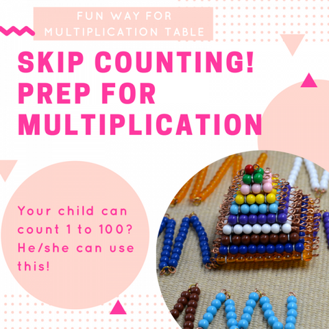 Montessori skip counting bead chain