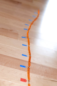 Montessori 1-1000 bead chains / Math educational learning material / skip counting 10 learning / homeschooler / times table