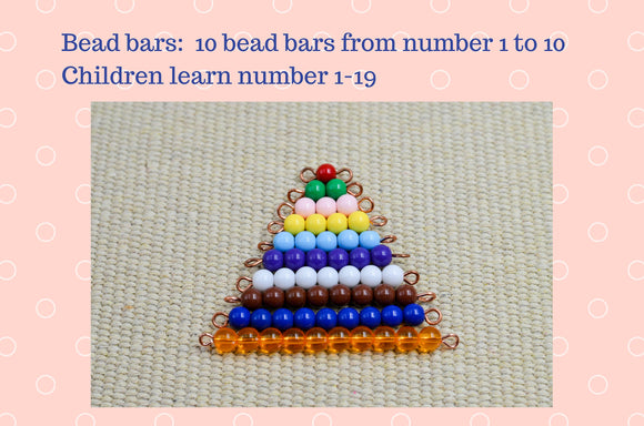 Montessori numbers bead bars | Montessori math materials | Montessori toys | preschool | gift for children | learning toy | homeschool