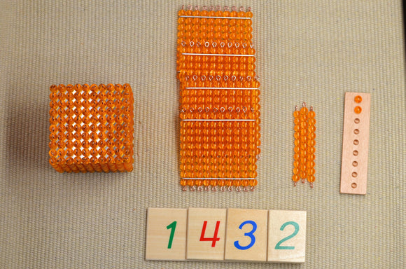 Montessori golden beads / Montessori decimal system