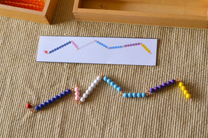 Montessori make ten math game / snake game with printed task cards