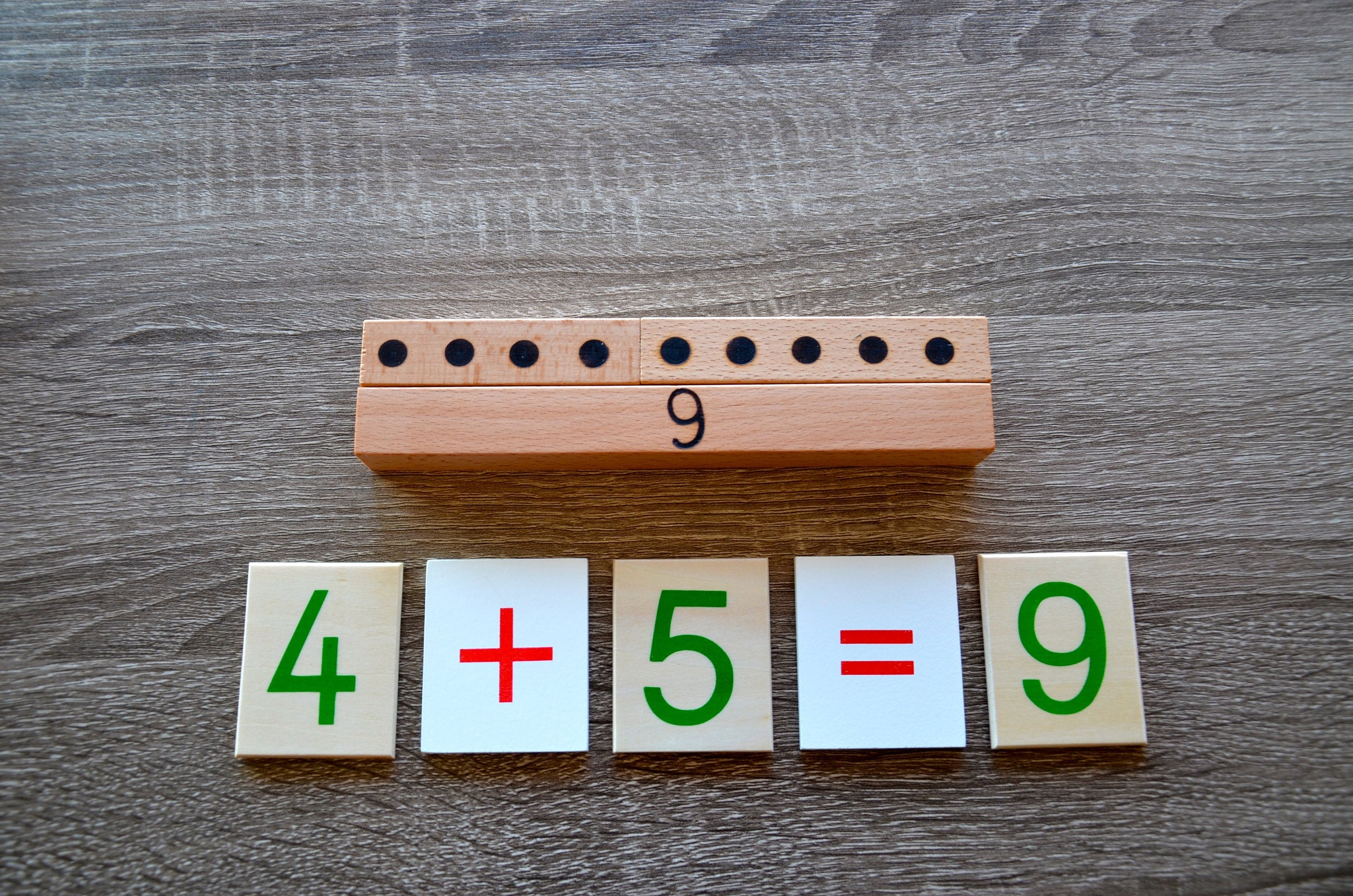 Montessori personalized number puzzle / Preschool Math learning puzzle / educational wooden puzzle / personalized xmas gift / children gift