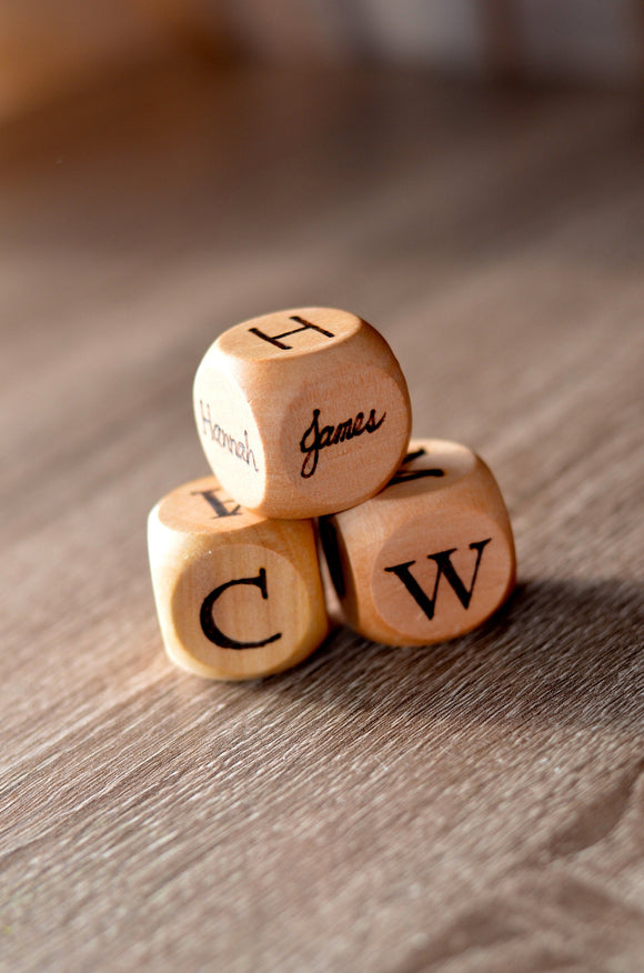 Personalized family dice / kids dice / personalized name dice / party gift / family gift
