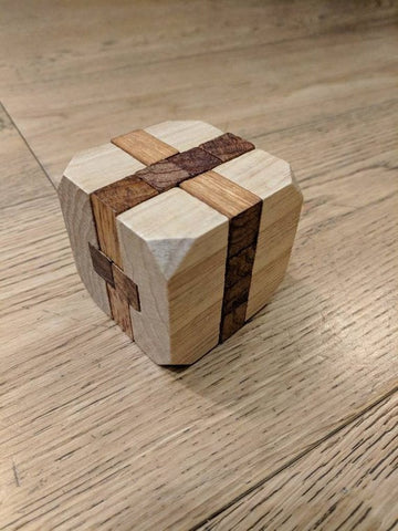 Wooden brain teaser puzzle / free shipping / dad gift / birthday gift / party gift